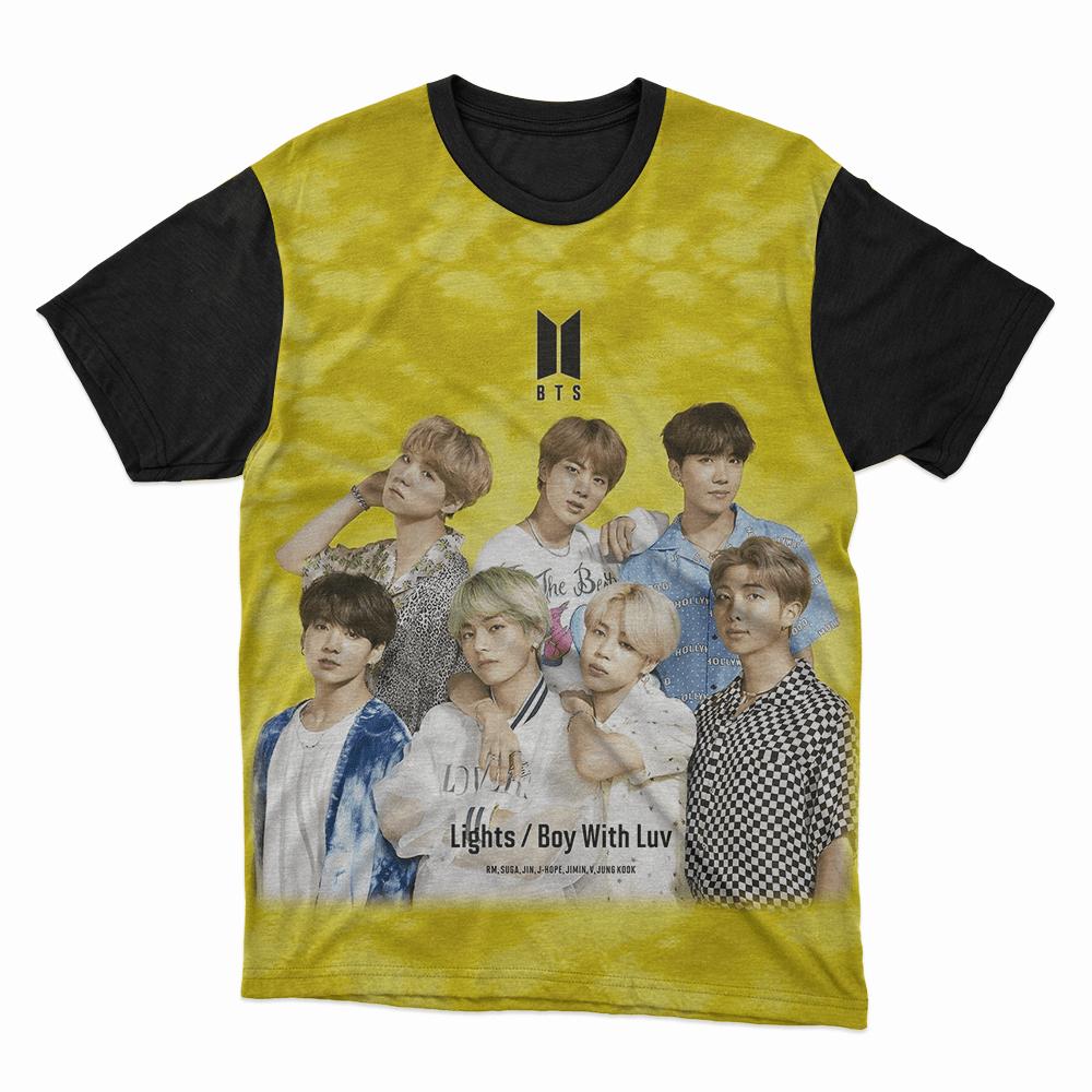 Camiseta kpop BTS Amarela