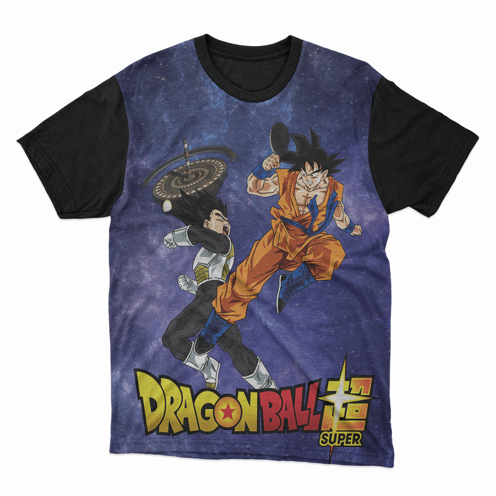Camiseta Dragon Ball Super Goku e Vegeta