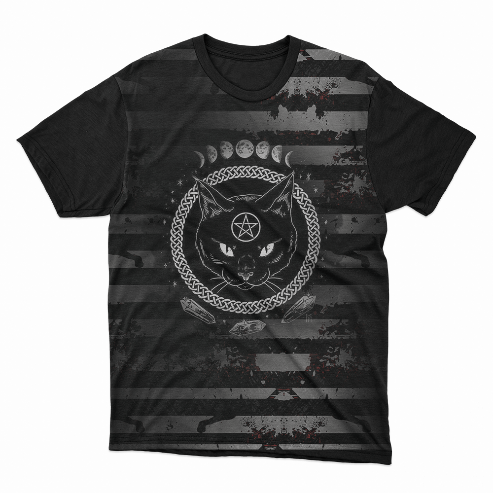 Camiseta Gato Ocultismo