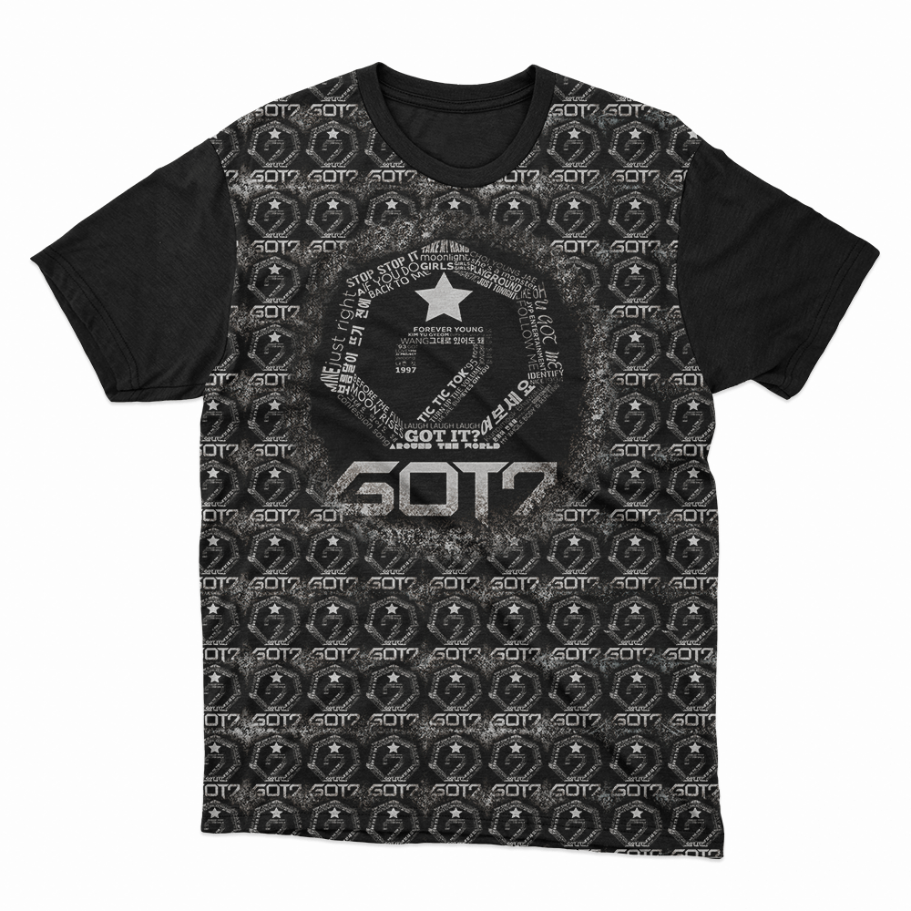 Camiseta Got7 preta