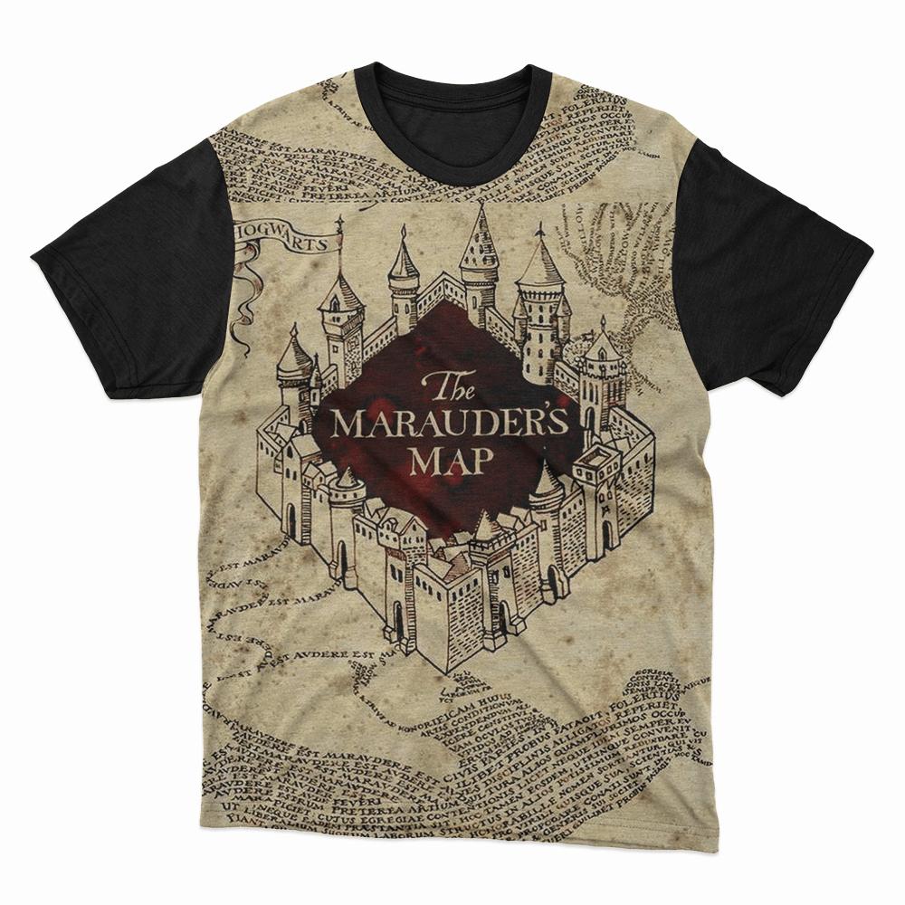 Camiseta Mapa do Maroto