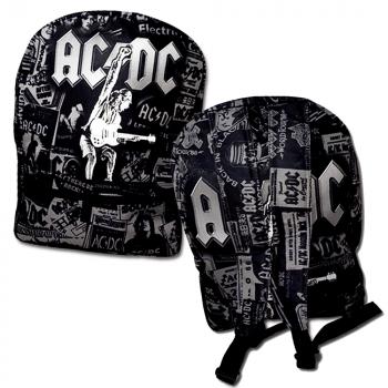 Mochila AC/DC preto a cinza