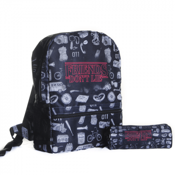 Mochila Stranger Things - Friends Don't Lie + Estojo
