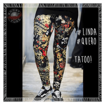 Calça legging feminina tatuagem
