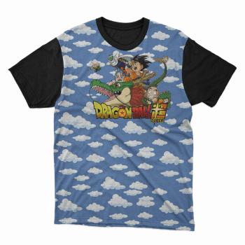 Camiseta dragon ball céu