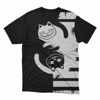 Camiseta unissex Gato Alice PB