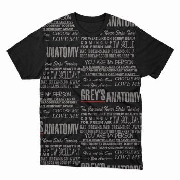 Camiseta Greys Anatomy Frases