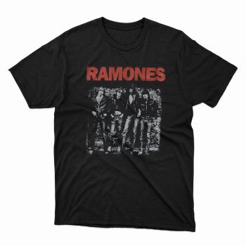 Camiseta serigrafia Ramones